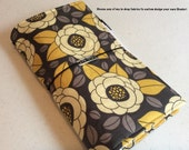 Travelers Notebook with Zipper Pocket and Charm - Custom Design Your Own in any of my In Shop Fabrics - Standard Size