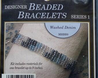 20%OFF Mill Hill Beads Glass Bead WASHED DENIM Designer Beaded Bracelets Kit