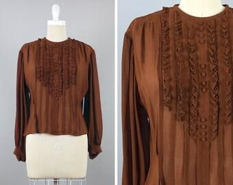 30s-40s Sheer Top -->  1930s Blouse --> 1940s Blouse --> 30s Blouse -->  30s Shirt --> 40s Blouse --> 40s Shirt --> 1930s Top --> 1940s Top