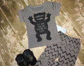 Monster 2 piece outfit for toddlers infants babies, photography prop, unisex outfit, harem pants, bow ties, BEARS, boys clothing, prop