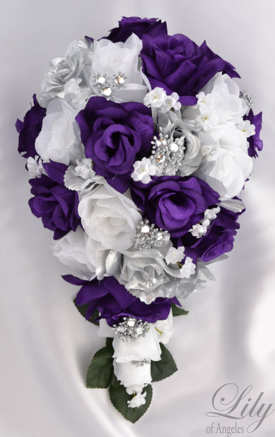 silk wedding bouquets packages 17 package bridal bouquet wedding bouquets silk flowers 7421
