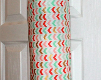 Grocery Bag Holder Dispenser Trash Bag Holder Plastic Bag Holder Most Popular Item Kitchen Organizer Chevron Pattern Wonderful Gift