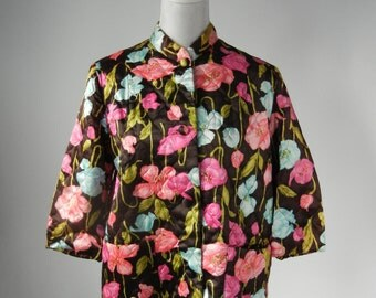 Vintage Robe, Vintage Housecoat, 1960s Robe, 1960s Housecoat, Floral Robe, Floral Housecoat, Women's Vintage Robe, Women's Vintage Housecoat