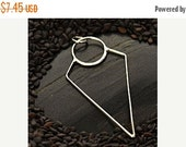 Prepare for Mothers Day Triangle  -  Sterling Silver Geometric Triangle Link -  Connector Charms, Downward Triangle