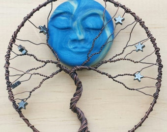 Tree of Life Suncatcher With Glow In The Dark Moon