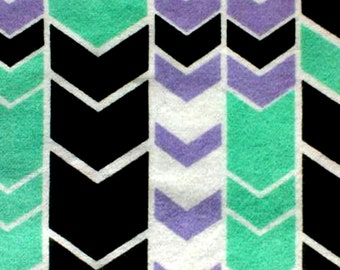 Chevron Fabric - Black and White Fabric - Flannel Fabric - Minimalist Fabric - Fabric - Purple Fabric - Cotton Fabric - by the Yard