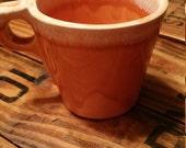 Hull Tangerine Drip Coffee Cup, VIntage Hull, MCM