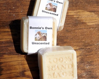 Unscented Goats Milk Soap, 2 oz bar, Guest Soap, Fragrance and Dye Free, Cold Process, Bath Soap, Goats Milk Soap, Goat Milk, Natural Soap