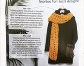 Crochet scarf, knit scarf, Grey winter scarf, grey knit scarf, (The Milton Scarf)
