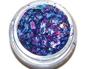 Big and Bold Purple Blue Sparkle Mix, Solvent Resistant Glitter Mix: 5 GRAM JAR. Raw Nail Glitter Mix for Nail Polish and Nail Art