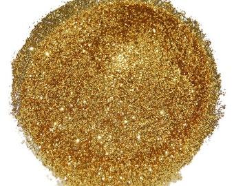 Bright Gold Glitter, SOLVENT RESISTANT, GLITTER, 0.015 Hex, Glitter Nail Art, Glitter Nail Polish, Glitter Crafts, Gold Glitter, Slime