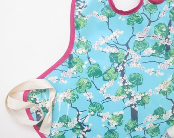Art Smock in Springtime Trees--Size 2T-5T--Ready to Ship
