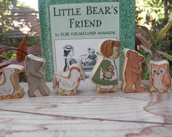 Wood Toys-Story Book Series-Little Bear's Friend-Pretend Play-Waldorf Inspired