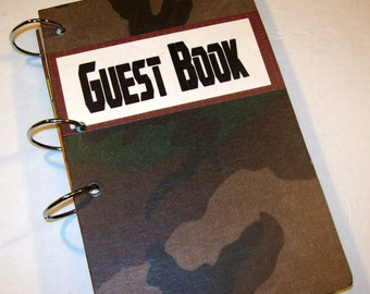 Guest Book, Camouflage Party, Birthday Party, Guest Book, Birthday Guest Book, Camo Baby Shower
