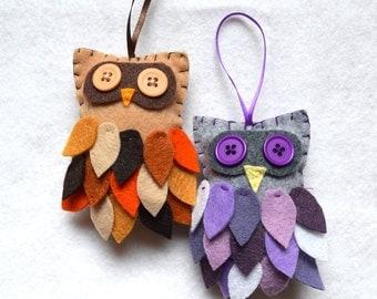 One felt and button feathered owlie