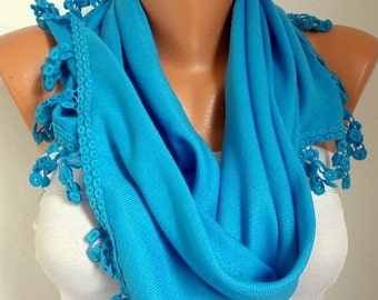 Turquoise Pashmina Scarf ,Christmas Gift Spring Hanukkah Oversize Shawl Cowl Bridesmaid Gift Ideas For Her Women's Fashion Accessories
