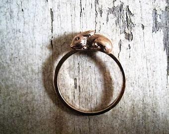 14 kt.Gold  Little Rabbit Ring