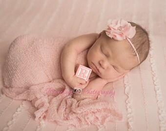 Baby Girl..Baby Headband..Baby Headbands..pink Headband..Light Pink Headband..Pink Baby Headband..Skinny pink Headband