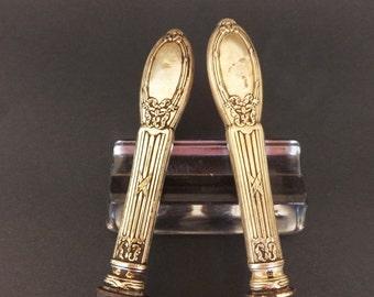 1900 Antque Sterling Silver Carving Set, Orfevrerie Boulenger, Carving Knife, Carving Fork, Antique Cutlery, Sterling Silver Cutlery
