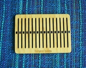 small rigid heddle for weaving, backstrap weaing, box loom. tape loom, DIY weaving, learn to weave, table loom