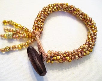 Spun Gold Kumihimo Bracelet