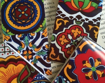 Magnetic Bookmarks (2) Mexican talavera designs Free Shipping set of 2