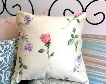 Cream Floral Cushion | Home Decor