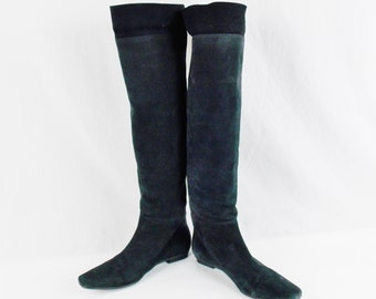 Vintage OTK Over The Knee SLOUCH BOOTS J.Miller Brazil Size 8  38  Leather and Suede