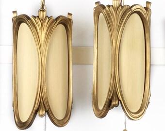 Hollywood Regency pendant lights hanging pendant light pair hollywood glam