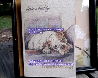bestest buddy / english bulldog /love my English Bulldog/ personalize/ /storybook/ sentimental/unique empathy condolence/pet sympathy