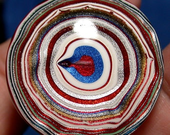 Fordite / Solid Detroit Agate Cabochon HIGH DOMED (suzybones)