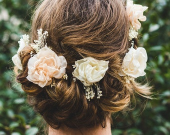 Flower Hair Clip | Wedding Hair Piece | Bridal Hair Piece | Bridesmaid Hair Clip | Custom | Floral Hair Accessory | Photo Prop | Accessories
