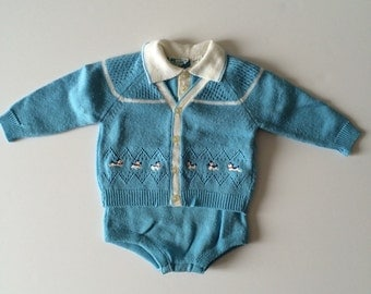 Vintage puppy Sweater & Body Suit (6/12 months)