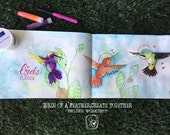 Pre-Sale Birds of a Feather Create Together HUMMINGBIRD Mini workshop with Jamie Dougherty