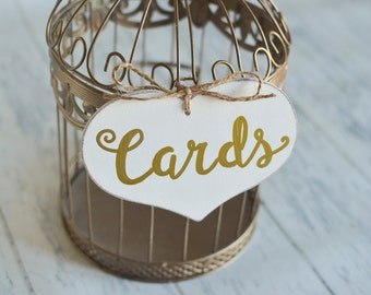 "Large Wedding ""Cards"" Sign- Your choice of Color. Ships Quickly."