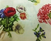 Flowers, on ivory, fat quarter, pure cotton fabric