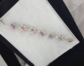 Lavender Swarovski crystal bracelet
