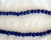 Cobalt Blue Powdered Glass African Trading Beads