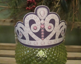 Princess Sofia Inspired Paper Crowns Set of 15