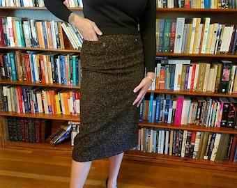 FALL FUN--Sexy 1950s Pencil Skirt in Fall Colors-S, M