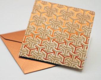 SALE-Copper Arrow Mini Cards // Set of 4 // Blank Cards // Enclosure Cards // Advice Card // Love Note // Scrapbooking