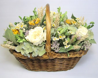 Floral Arrangement, Dried Floral Arrangement, Dried Flowers