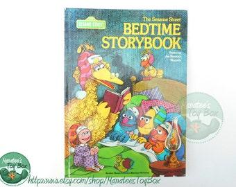 1970s Sesame Street Bedtime Storybook Hardcover