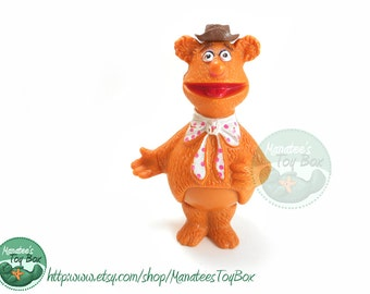 Fozzie Bear Muppets Toy Vintage 1970s by Fisher Price