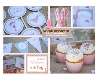Cowgirl Birthday Kit | Cowgirl Birthday Package- Ready to Ship