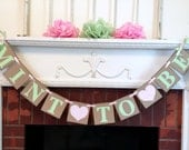 MINT TO BE Wedding Banner - Mint and pink Bridal shower Decor - Pink and Mint Wedding - Bridal shower Decor - shabby chic wedding decor