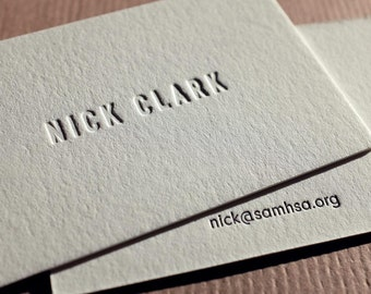 The Requisite Card – Custom Letterpress Printed Calling Cards 100ct
