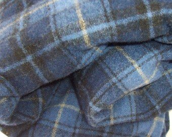 Felted Wool Fabric Yardage 1.5 Yards in Blues