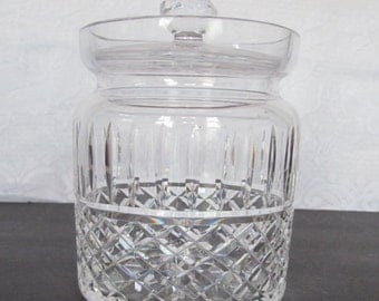 Crystal Leaded Glass Bisquit Jar