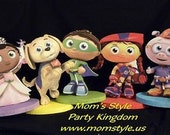 Super why gang birthday party centerpiece